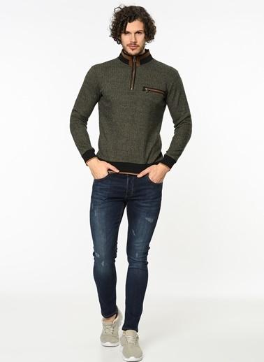 Yakası Fermuarlı Sweatshirt-Dewberry
